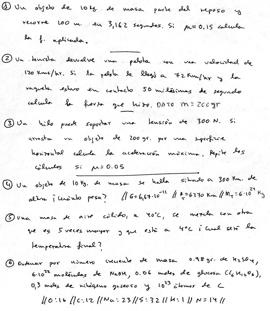 FISICA Y QUIMICA PARA ESTUDIANTES: Examen y corrector 4º ESO fisica ...