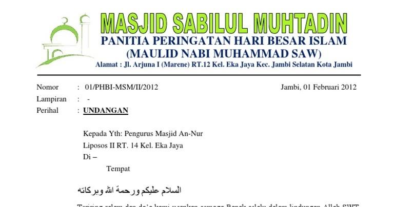 Surat Undangan Maulid Nabi Bahasa Jawa Ke Sragen