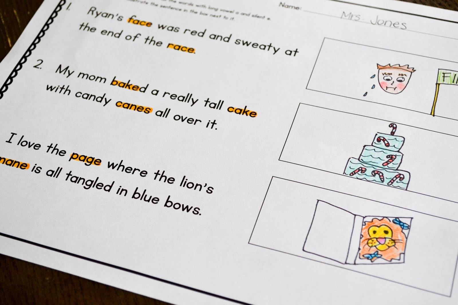 hight resolution of Silent E Fluency Passages - Susan Jones