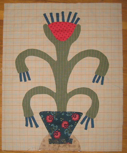 Block H Cacti for Linda Brannock's Flowers Quilt