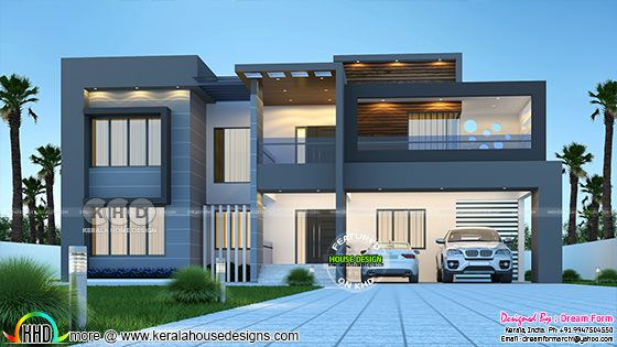 Modern contemporary style luxury house 3d rendering