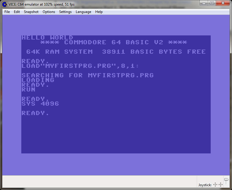 Whatnot and Gobbleaduke: C64 Coding - Part 3 - My First Program!