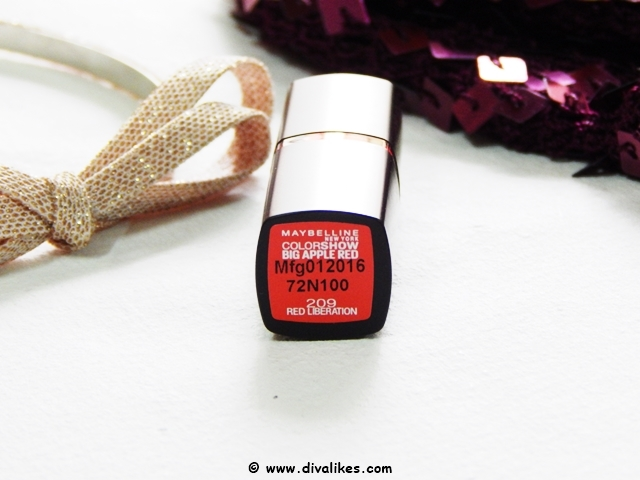 Maybelline Color Show Big Apple Red Creamy Matte Lipstick Red Liberation