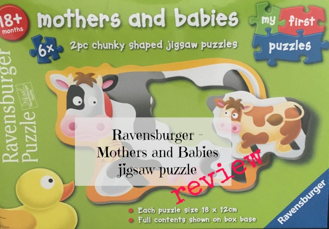 Ravensburger-mothers-and-babies-jigsaw-puzzle-review-text-over-image-of-box