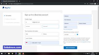 Isi biodata pendaftaran Paypal lengkap