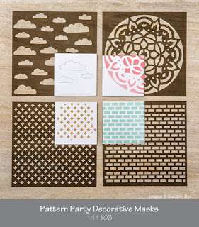 Pattern Party Decorative masks by Stampin' Up!