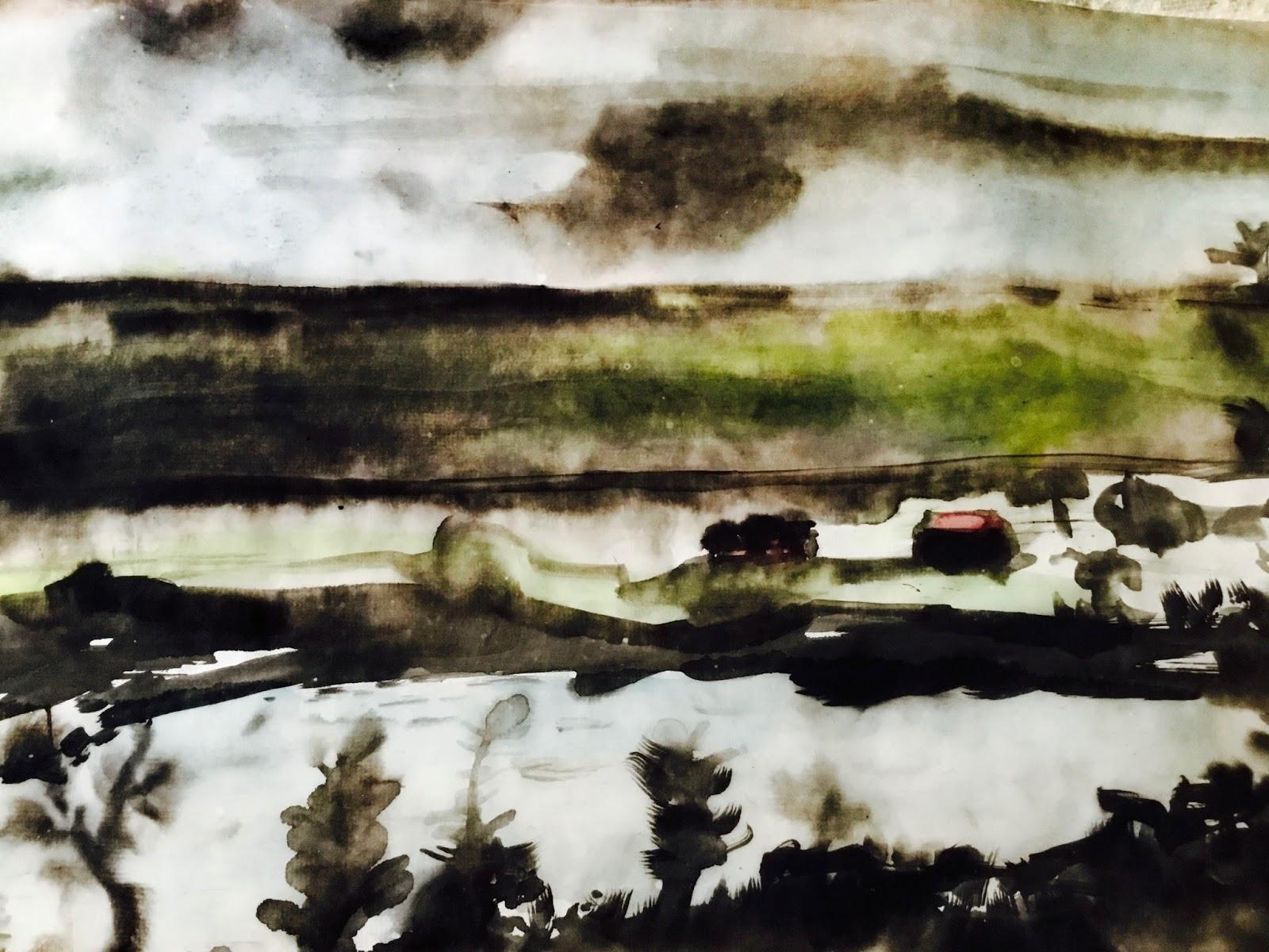 Near St. John's: brush and ink
