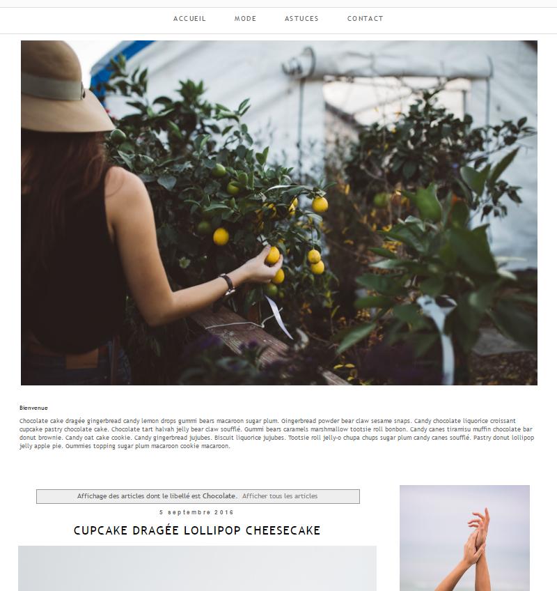 Créer un page d'accueil statique sur Blogger