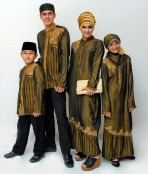 Baju muslim keluarga yang modis dan syar'i