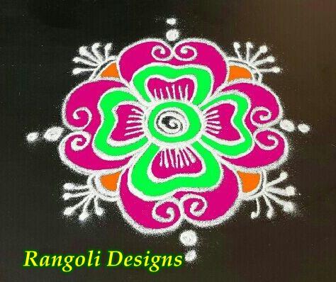 Dots Rangoli Flower Muggulu Designs With 4 Dots Pulli Kolam Poo