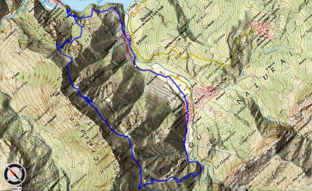 Mapa topográfico Ruta Sierra del Crespón