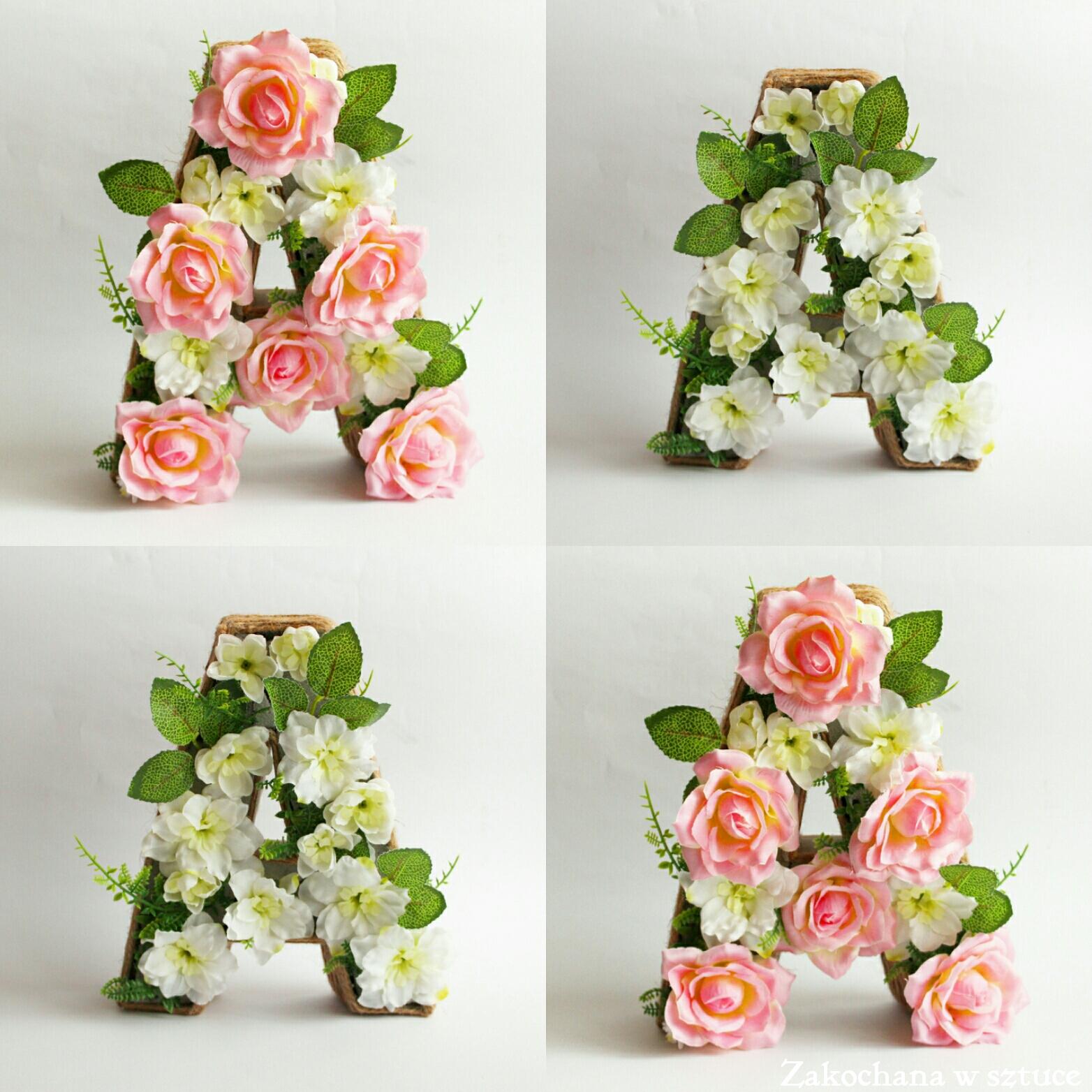 Zakochana W Sztuce Literki Z Kwiatów Inicjały ślubne Konkurs