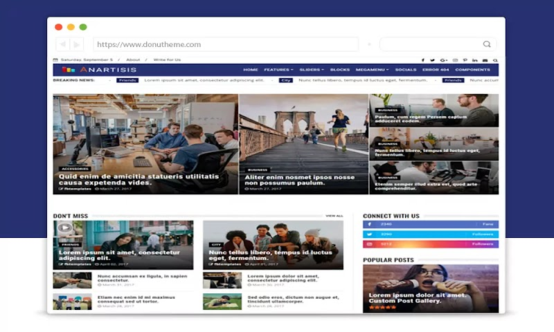 Anartisis News & Magazine Blogger Theme - Responsive Blogger Template