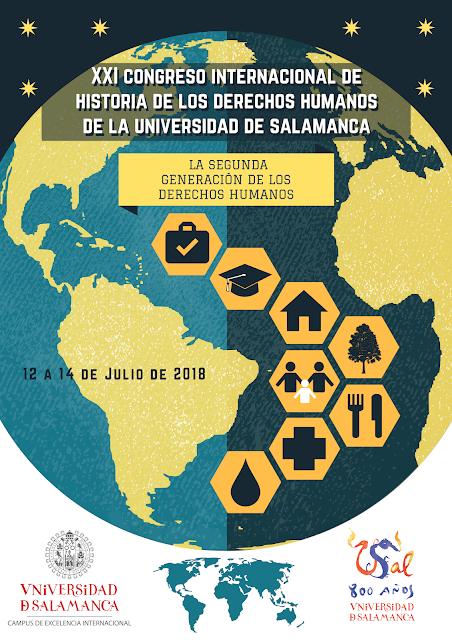 """CFP: XXI Congreso Internacional de Historia de los Derechos Humanos de la Universidad de Salamanca: """"La Segunda Generación de los Derechos Humanos"""", Salamanca, 12-14  julio de 2018."""