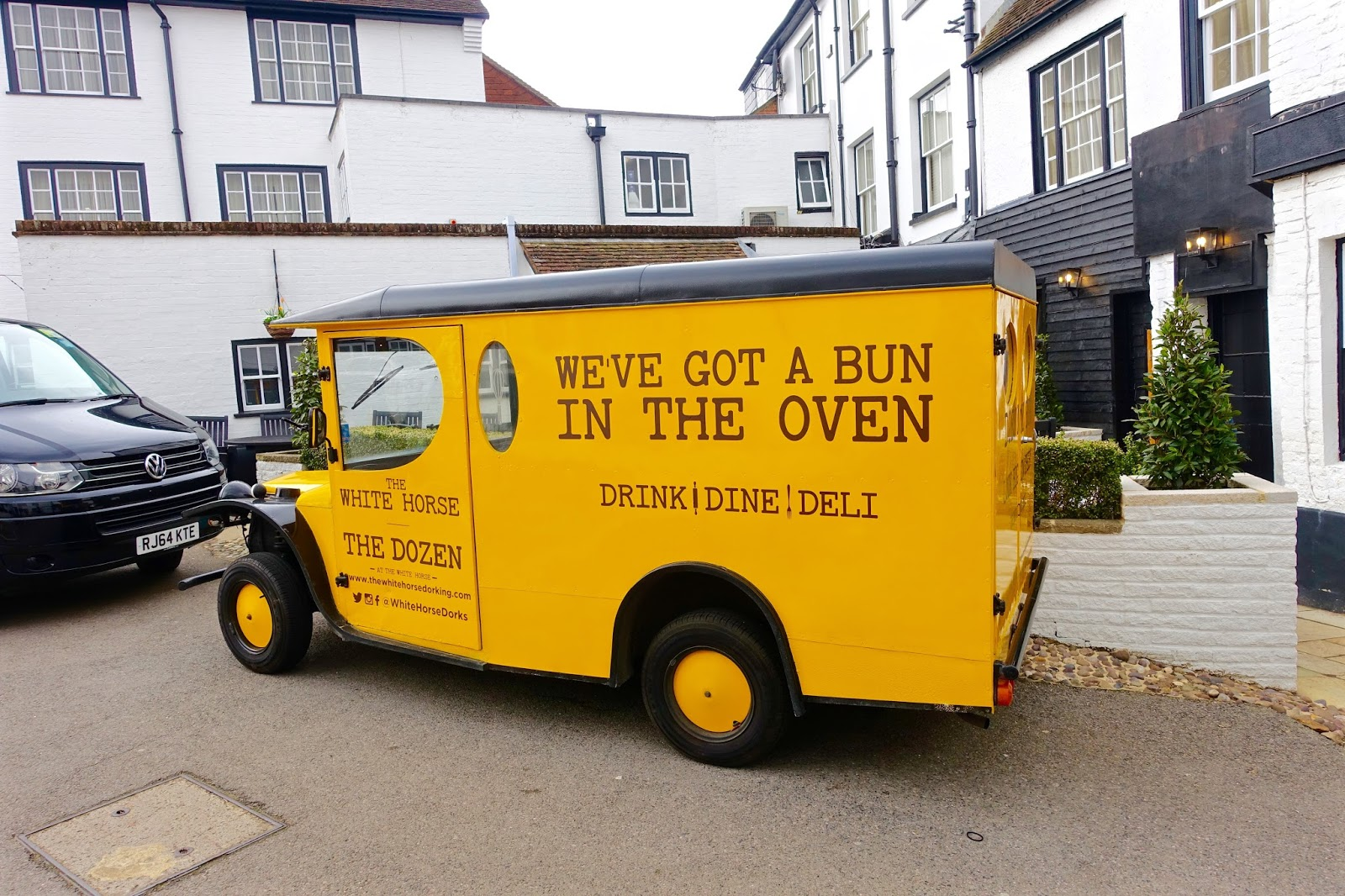 we've got a bun in the oven van