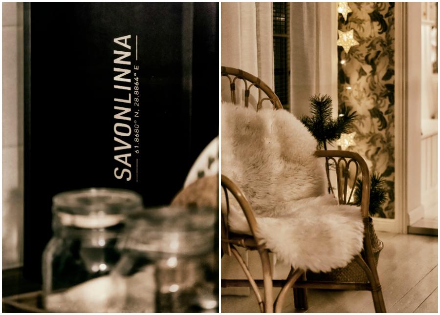 pikkujoulu, joulu, tunnelma, Visualaddict, Tiina H, blogi, Savonlinna, rottinkituoli, talja