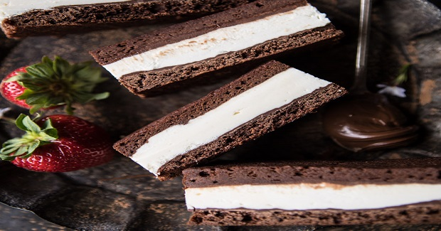 Tiramisu Brownie Ice Cream Sandwich Bars Recipe