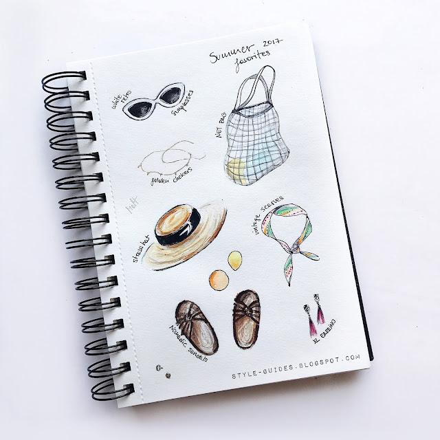 summer favorites sketch