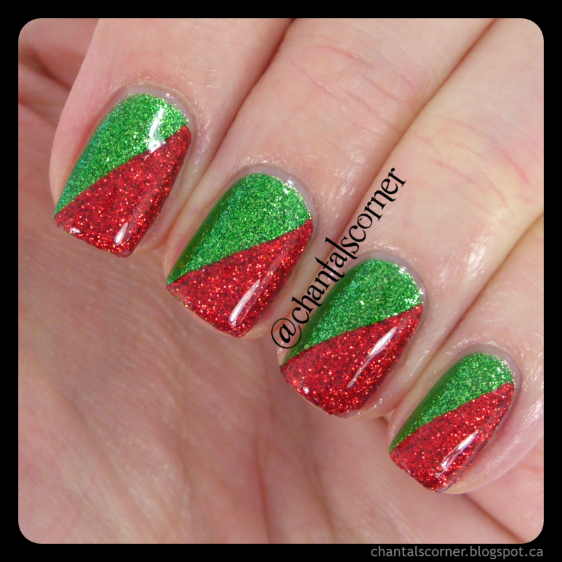 Christmas Nails Red And White: Chantal's Corner: Red And Green Christmas Nails