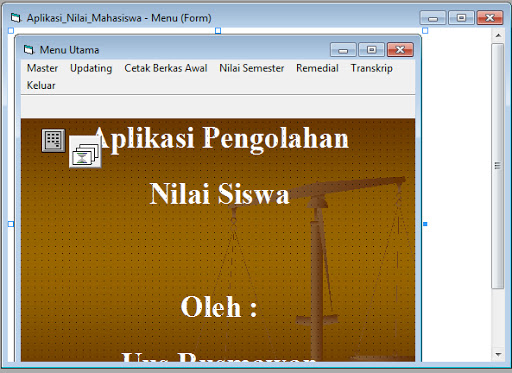 Program Pengolahan Data Nilai Visual Basic 6.0