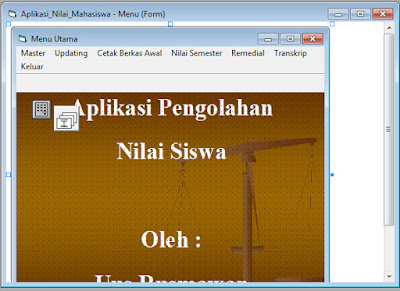 Program Pengolahan Data Nilai Visual Basic 6.0
