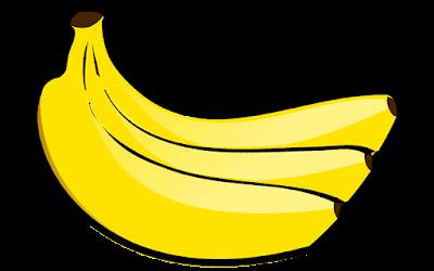 clipart gambar satu sisir buah pisang