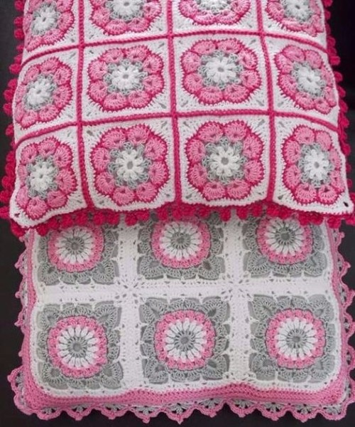 African Flower Square - Free Pattern