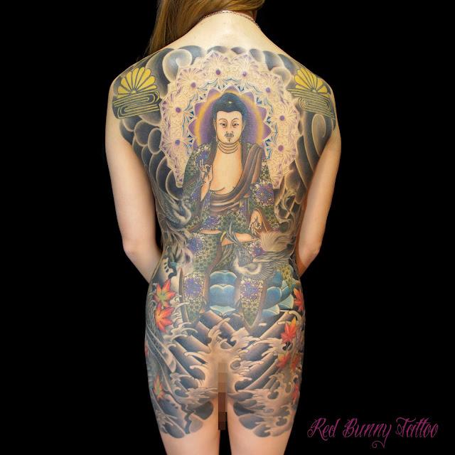 阿弥陀如来 刺青 タトゥー  japanese tattoo