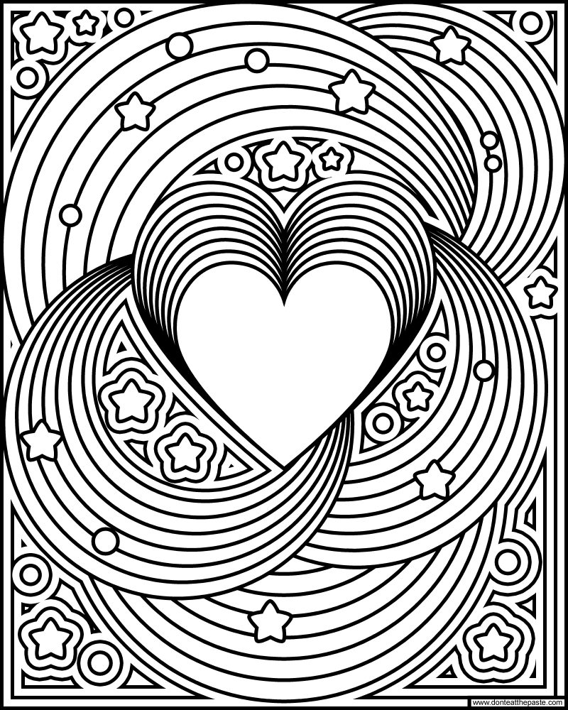 Don 39 t eat the paste rainbow love coloring page for Love mandala coloring pages