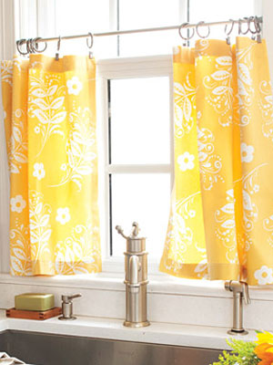 How to Make Simple Kitchen Valances