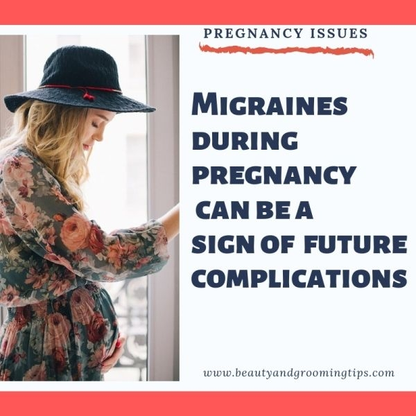 pregnant woman with headaches and migraines worried about her pregnancy