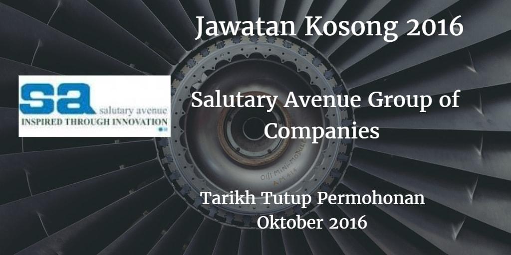 Jawatan Kosong Salutary Avenue Group of Companies 30 Oktober 2016