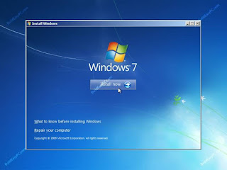 cara instal windows 7 32/64 bit