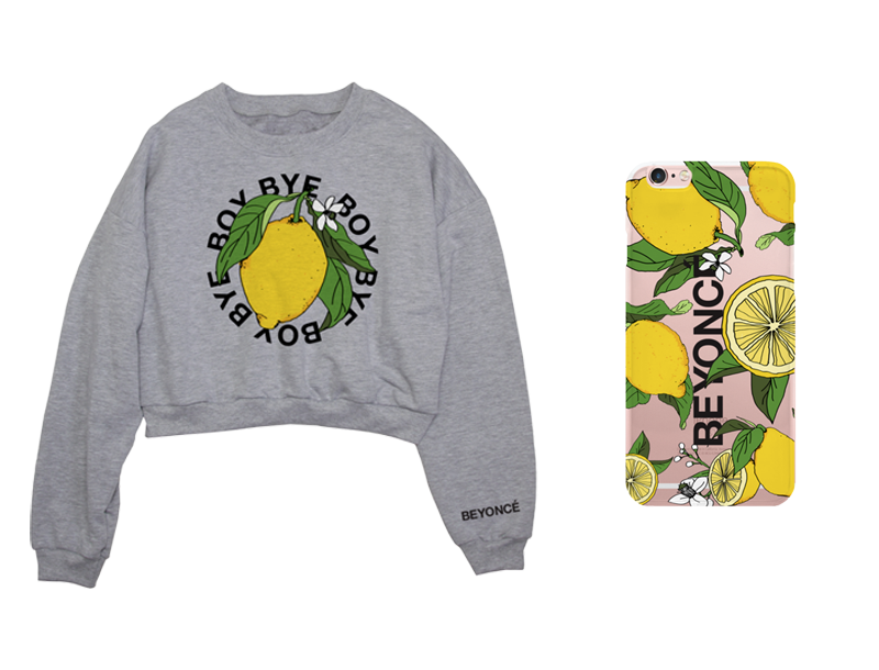 Beyonce's Lemonade tour merch.