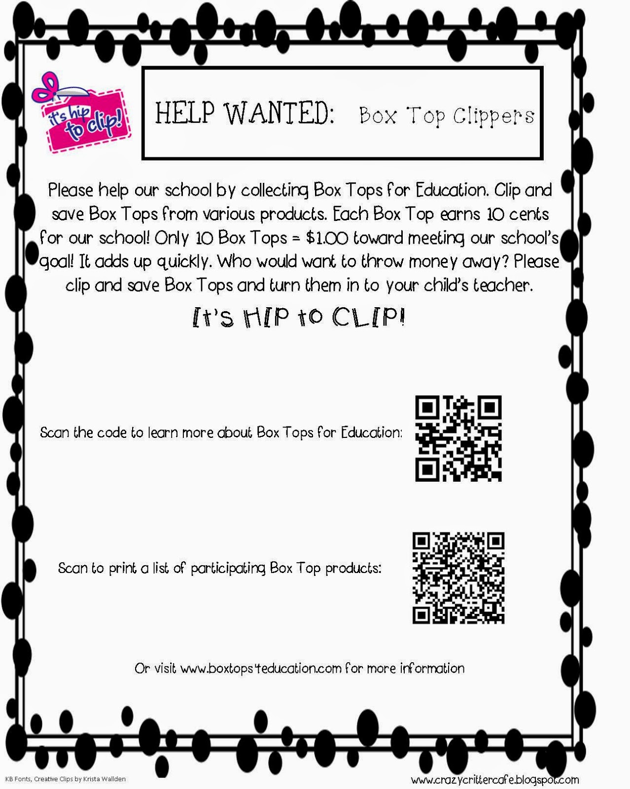 Crazy Critter Cafe Box Tops For Education Diy Collection