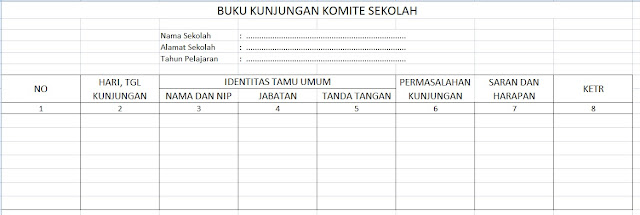 Download Format Buku Kunjungan Komite
