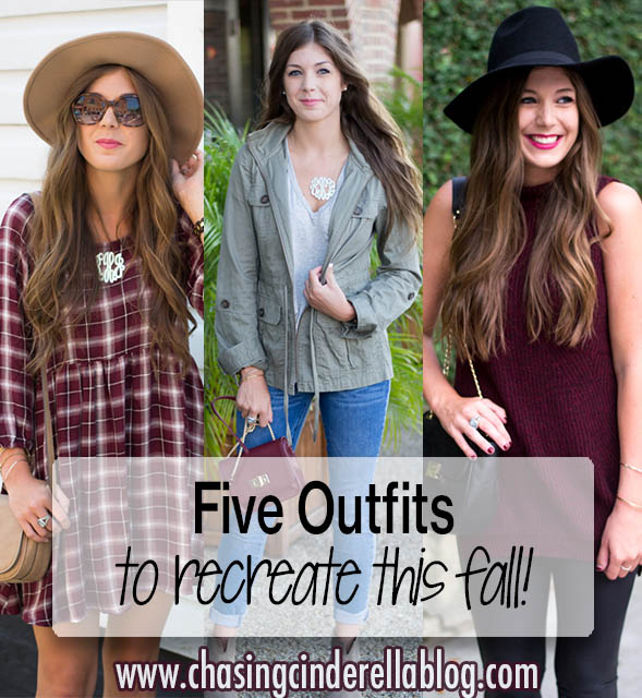Five Outfits to Recreate this Fall | Chasing Cinderella