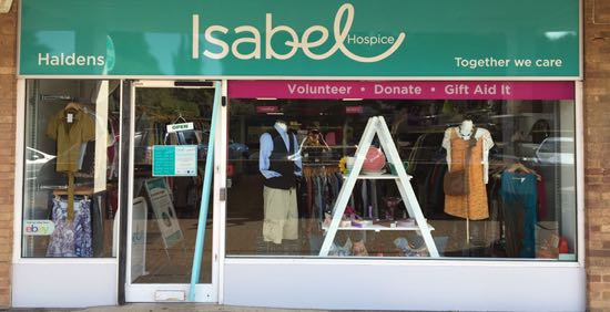 Isabel Hospice shop in Haldens, WGC  Image courtesy of Isabel Hospice