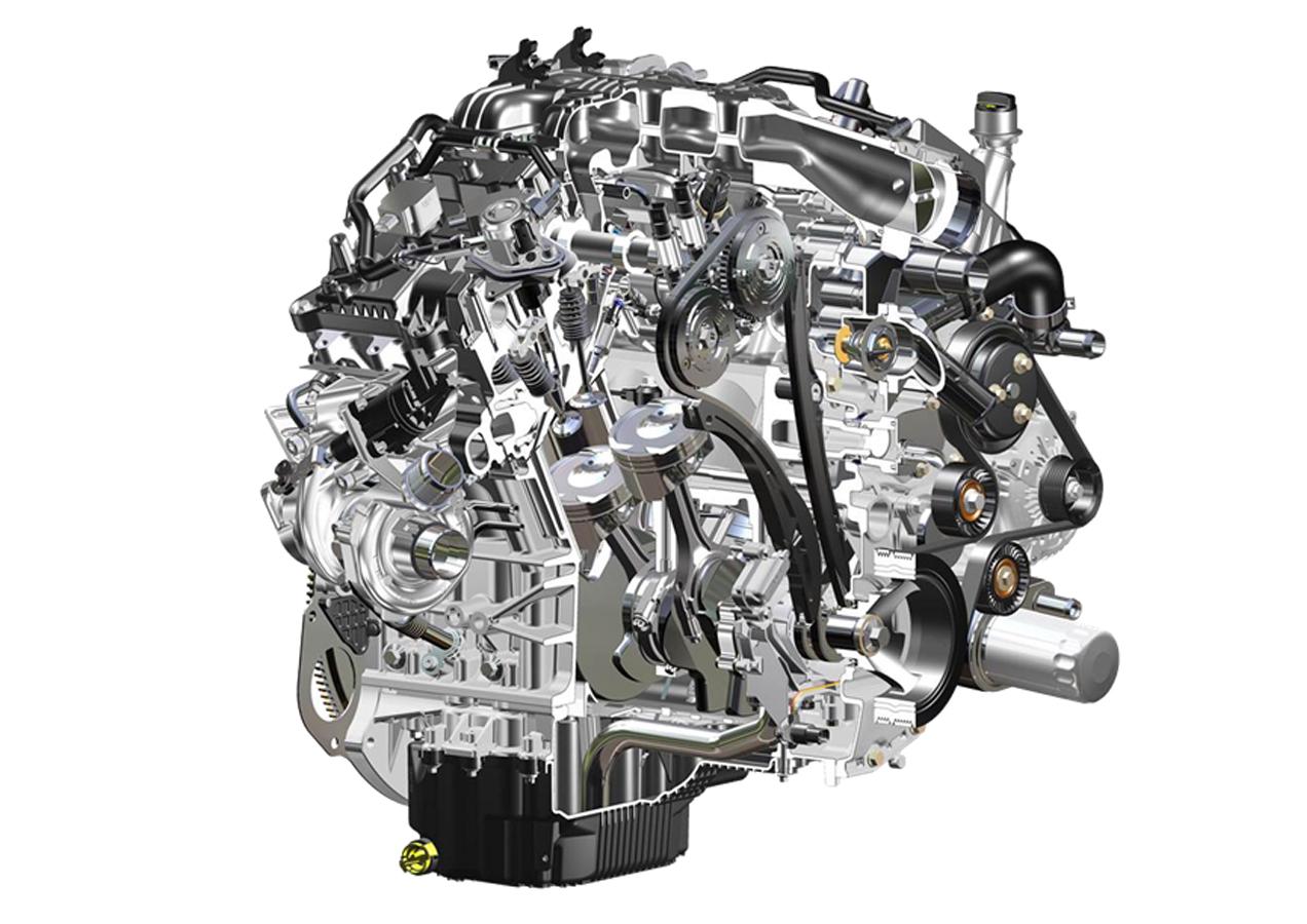 Tận mắt xem động cơ Ecooboost V6 hộp số tự động 10 cấp trong Ford F-150 2017