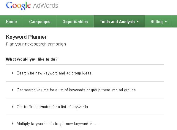 Cara Riset Keyword Dengan Google Planner