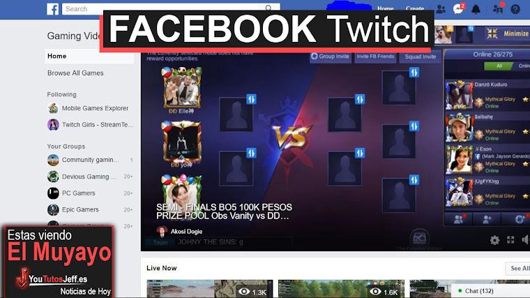 Facebook lanza su propia versión de Twitch