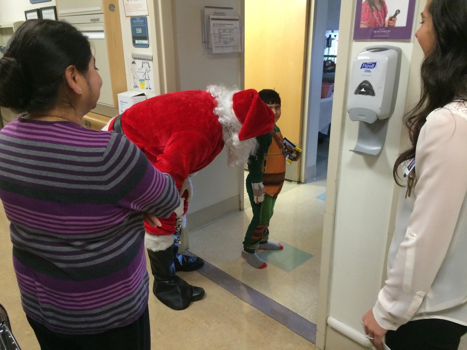 Visit to Winthrop Hospital with Santa! | I O O F  Mineola