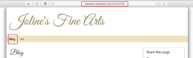 Salin URL blog