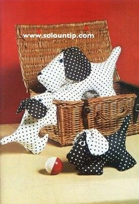 Perrito de tela con moldes - Patrones de cabezas de animales de tela ...