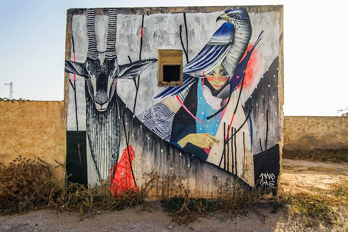 We continue our ongoing coverage of the Djerbahood Street Art project with TWOONE and his newest piece somewhere around the island of Djerba, Tunisia.