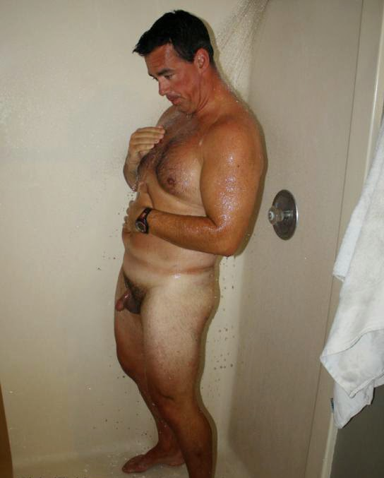 Mature male nude locker room