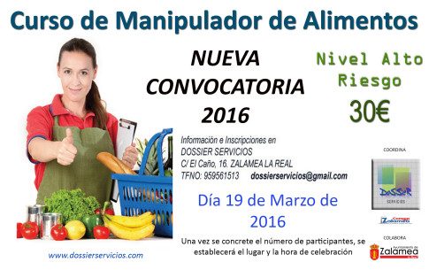 Zalamea la otra mirada curso de manipulador de alimentos en zalamea la real - Temario curso manipulador de alimentos ...