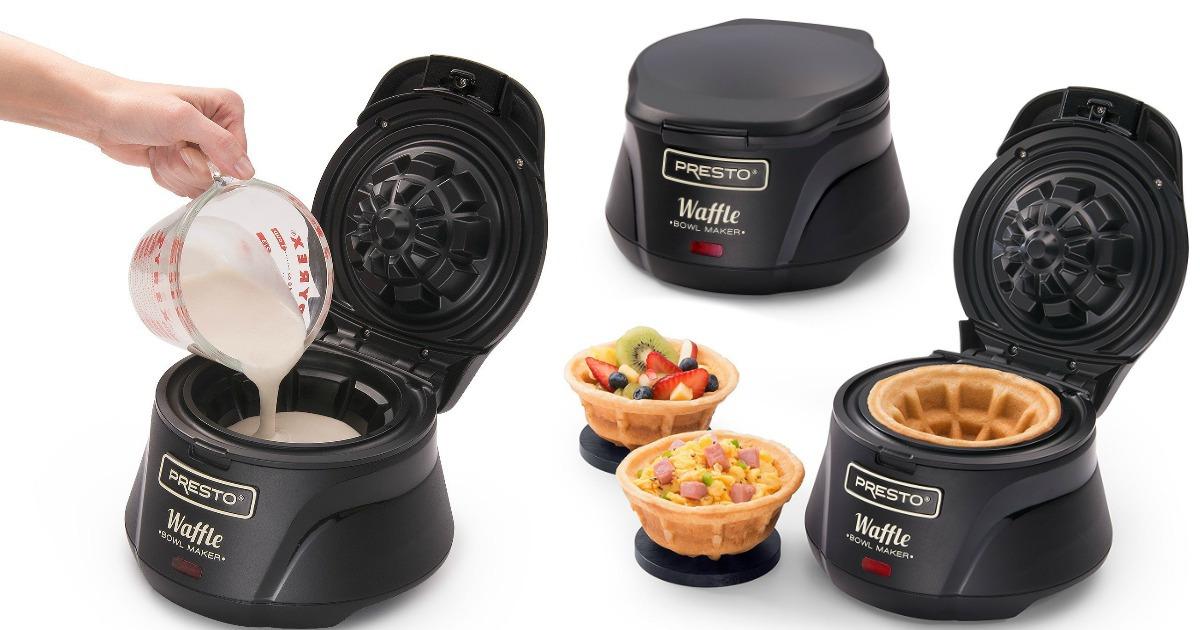 Presto® Belgian Waffle Bowl Maker