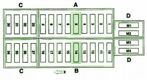 mercedes fuse box diagram fuse box mercedes benz 2001 slk. Black Bedroom Furniture Sets. Home Design Ideas