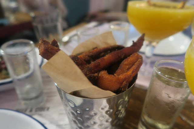 Turtle Bay sweet potato fries, side chick martini